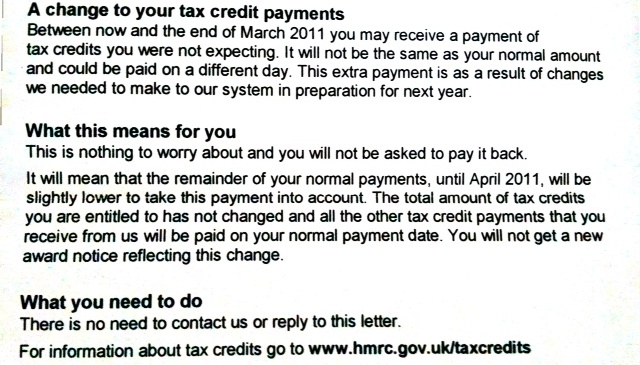 Tax Credits – They are just so clear&easy to understand!