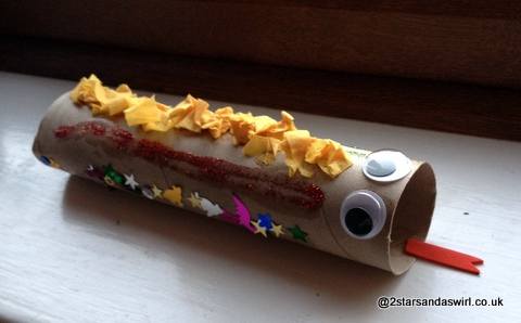 Gruffalo snake craft kitchen roll junk model