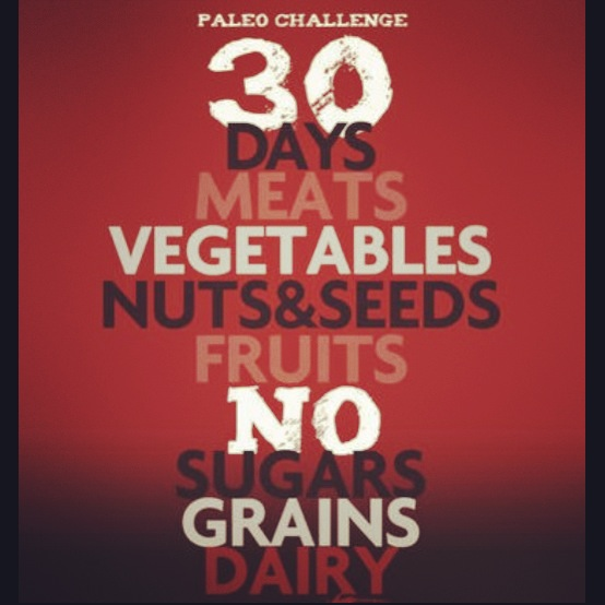 Completing the 30 day strict paleo challenge