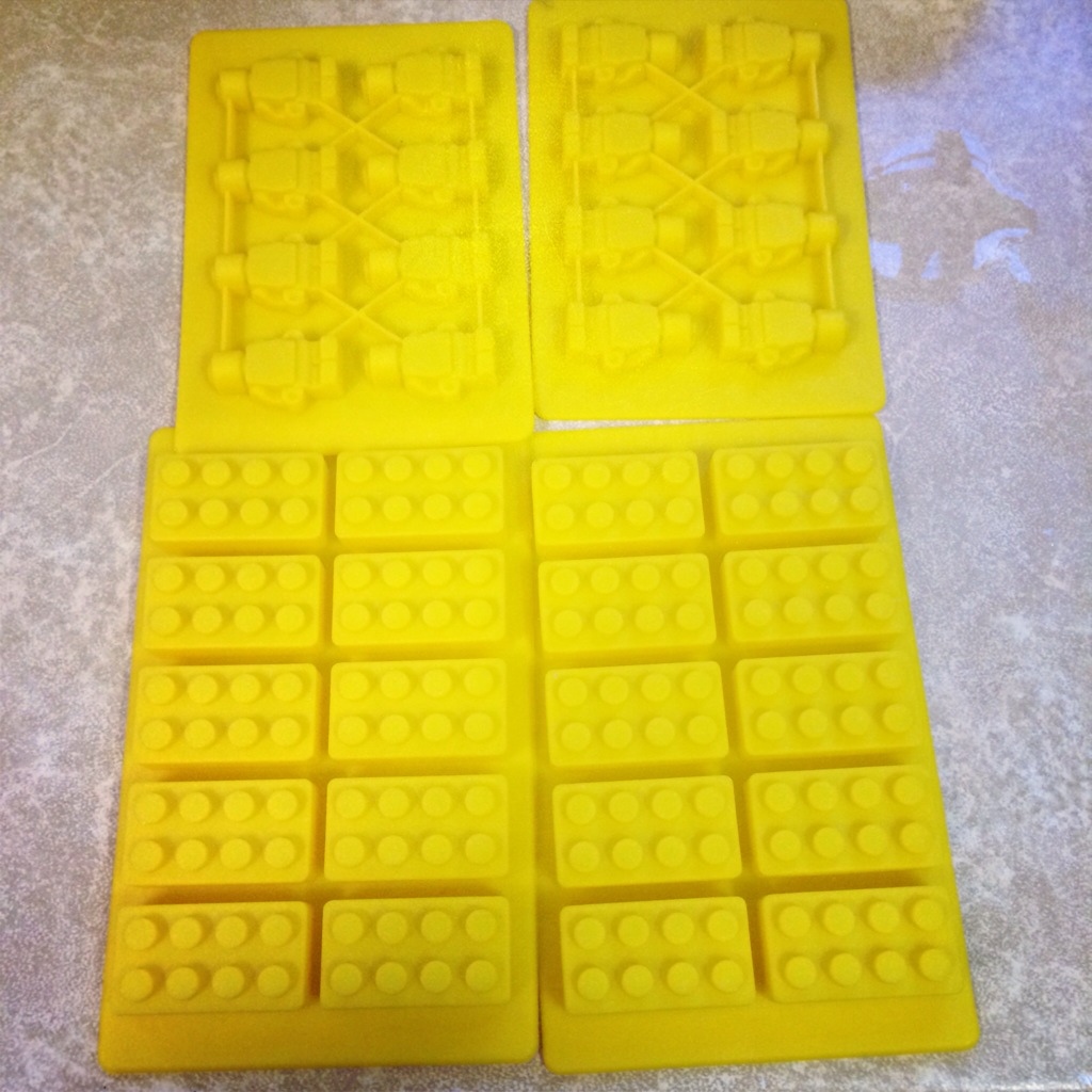 Chocolate lego moulds