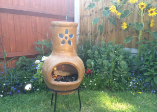 Small Flower Cut Out Clay Chimenea Review