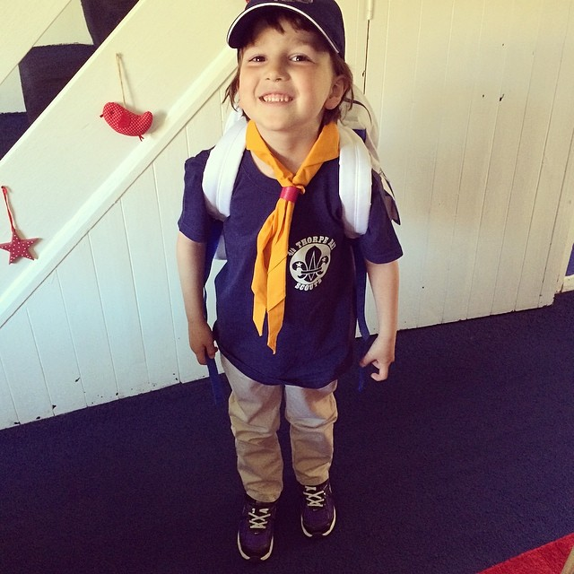 May 2014 - Ben off to his first Beaver camp